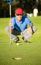 Male golfer Royalty Free Stock Photography