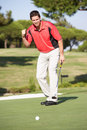 Male Golfer On Golf Course Stock Image