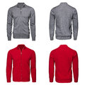 Male gray and red sweater Royalty Free Stock Photo
