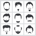 Male hair graphics Royalty Free Stock Images