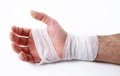 Male hand with bandage Royalty Free Stock Photo