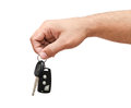 Male hand holding a car key Royalty Free Stock Image