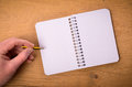 Male hand with a notebook Royalty Free Stock Photo