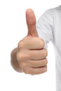 Male hand sign with thumb up. Royalty Free Stock Photo