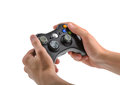 Male Hands Holding Gamepad isolated Royalty Free Stock Photo