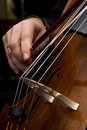 Male hands playing cello Royalty Free Stock Photography