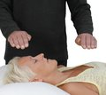 Male Healer and female client Royalty Free Stock Photo