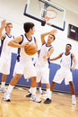 Male High School Basketball Team Playing Game Royalty Free Stock Photo