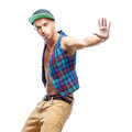 Male hip-hop dancer Royalty Free Stock Photo