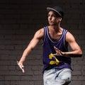 Male hip-hop dancer Royalty Free Stock Photo