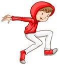 A male hiphop dancer