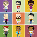 Male Hipster Avatar set Royalty Free Stock Photo