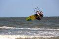 Male jumping kiteboard in Mui ne Vietnam Royalty Free Stock Photo