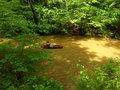 Male Kayaker in a Kayak at Pigg River Ramble Royalty Free Stock Photo