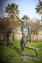 Male marathon runner statue Royalty Free Stock Photo