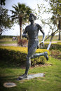 A male marathon runner statue Royalty Free Stock Photo