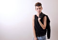 Male model young in studio Royalty Free Stock Photography