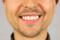 Male mouth with a smile beard and mustache Stock Images