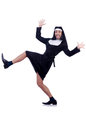 Male nun funny religious concept Royalty Free Stock Images
