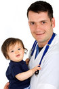 Male pediatrician and a baby g Royalty Free Stock Photo