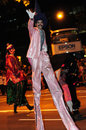 Male performer on stilts Stock Photo
