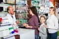 Male pharmacist in pharmacy Royalty Free Stock Photo