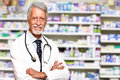 Male pharmacist at pharmacy portrait of a Stock Photos