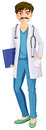 A male physician illustration of on white background Royalty Free Stock Image
