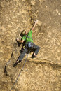 Male rock climber. Royalty Free Stock Photos