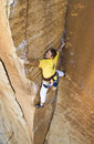 Male rock climber. Royalty Free Stock Images