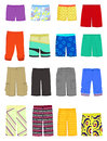 Male shorts set of and swimming trunks Stock Photo