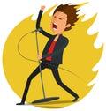 Male Singer singing Royalty Free Stock Photo