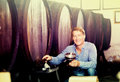 Male sommelier in wine cellar Royalty Free Stock Photo