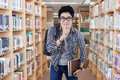 Male student making silence sign Royalty Free Stock Photo