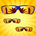 Male sunglasses Stock Images