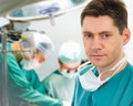 Male surgeon with his team Stock Image