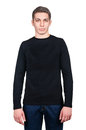 Male sweater isolated on the white Royalty Free Stock Image