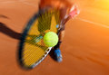 Male tennis player in action Royalty Free Stock Photo