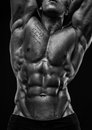 Male torso muscled with abs Stock Photography