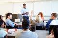 Male Tutor Teaching University Students In Classroom Royalty Free Stock Photo