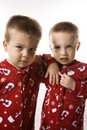 Male twins. Royalty Free Stock Photography