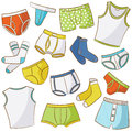 Male underwear doodle icon set Stock Photo