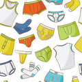 Male underwear doodle pattern seamless Stock Photos