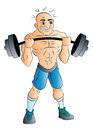 Male Weightlifter, illustration Royalty Free Stock Photography