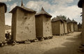 Mali, Africa - Dogon village and typical mud buildings Royalty Free Stock Photo