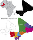 Mali map Royalty Free Stock Photography