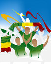 Malian Soccer crowd Royalty Free Stock Photography
