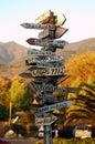 Malibu Signpost Royalty Free Stock Photo