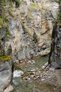 Maligne峡谷 库存图片