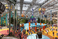 Mall of america s amusement park in bloomington mn on july minnesota is heated mostly by electrical fixtures lighting Royalty Free Stock Photos